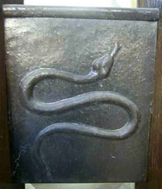 The Dan tribe's serpent plate