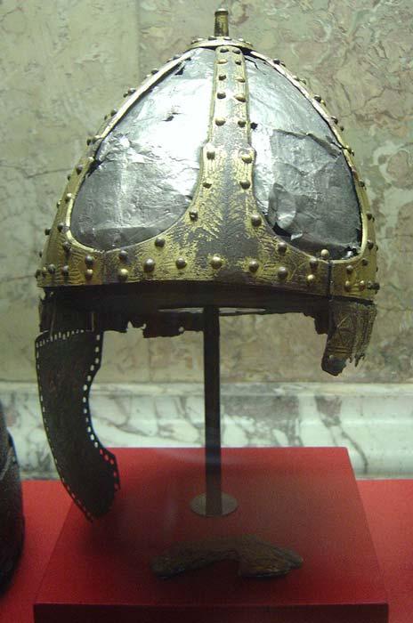 A surviving Spangenhelm, sixth century, Vienna.