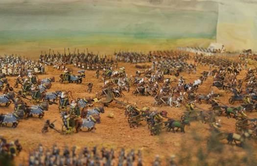 Model of chariots at the Battle of Kadesh.
