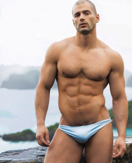 Muscled Speedo Model