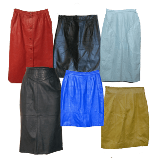 ladies vintage leather skirts
