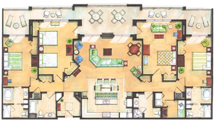 3 Bedroom Villas Orlando Minimalist Collection Westgate Lakes 3 Bedroom Floor Plan Departamentos En Orlando .