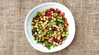 Citrusy Three Bean Salad
