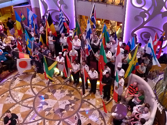 Image result for cruise ship parade of nations