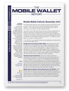 Mobile Wallet Outlook, November 2012