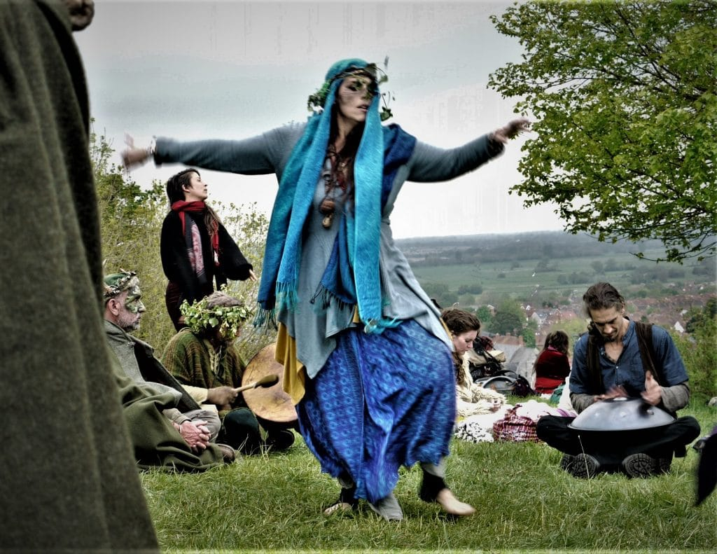 Woman at Beltane Glastonbury