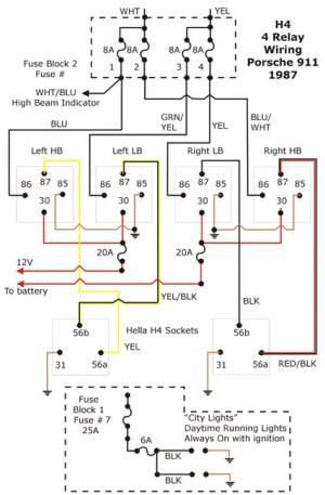 H4 Bulb Socket  wiring question  Pelican Parts Forums