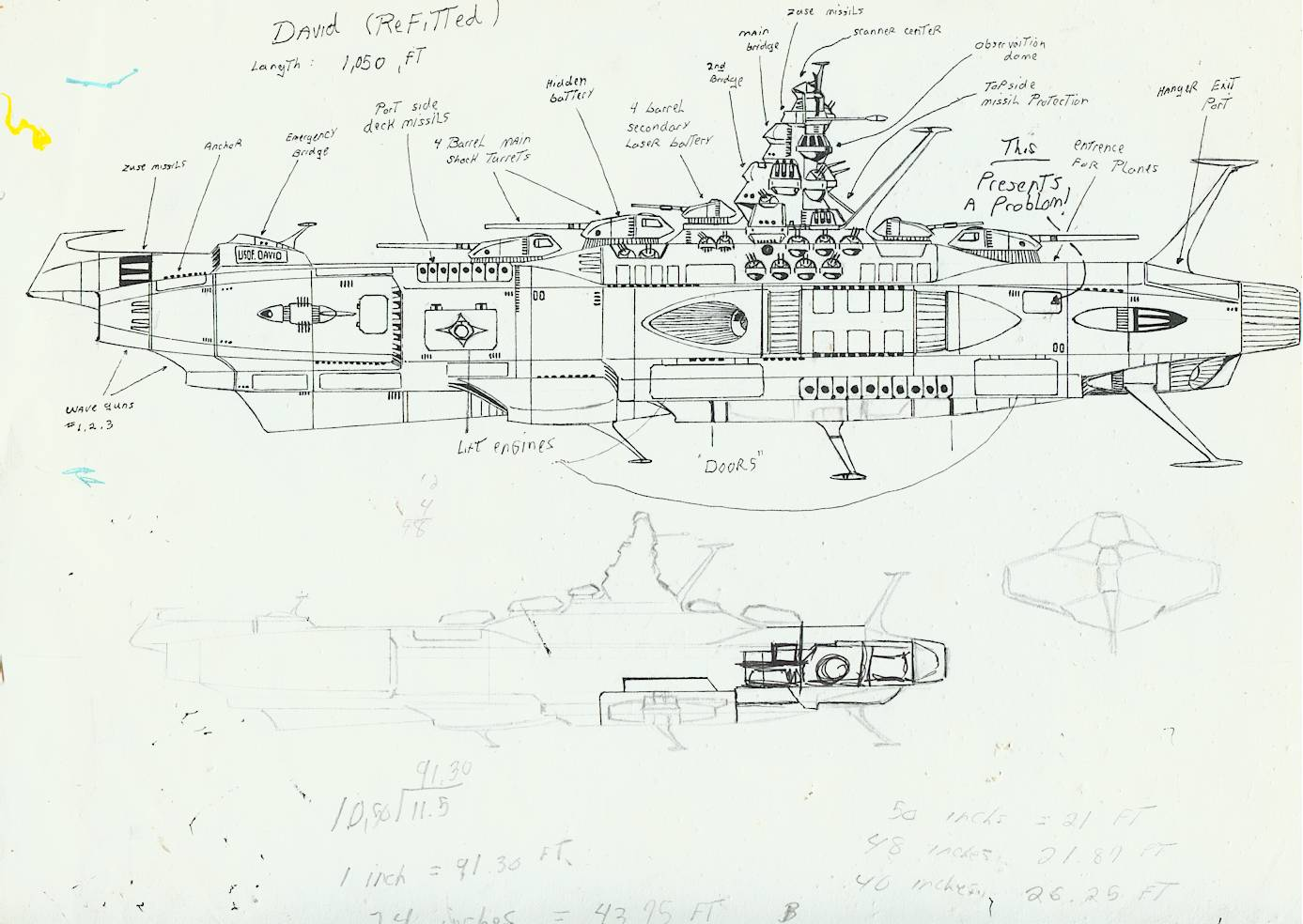 Artist Notes About The Original Ships