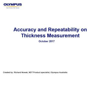 Accuracy and Repeatability on Thickness Measurment