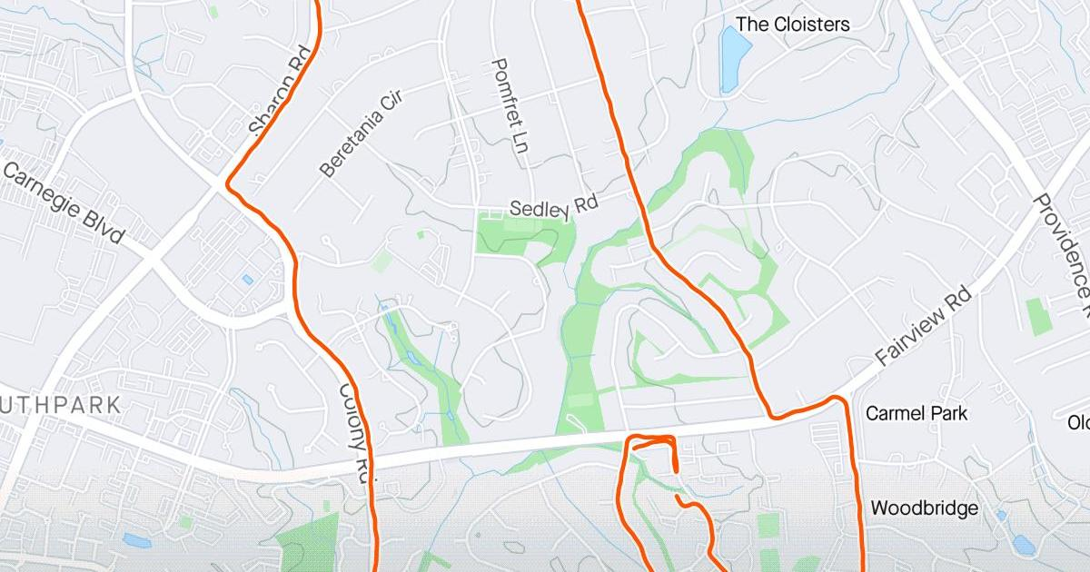Activity data and map from STRAVA