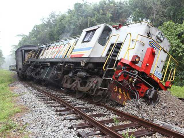 Image result for picture of a derailed train