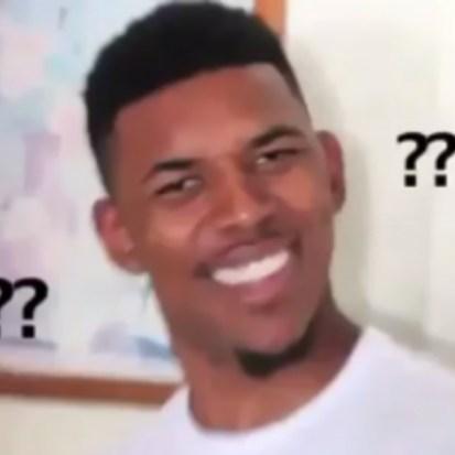 Imagen de un meme famoso, en el que aparece un hombre negro con cara de interrogante
