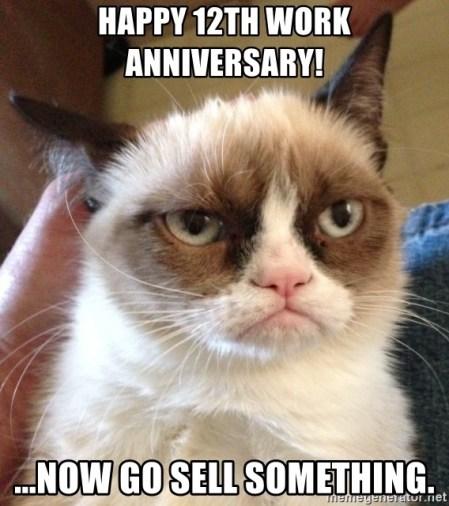 happy 12 year work anniversary meme