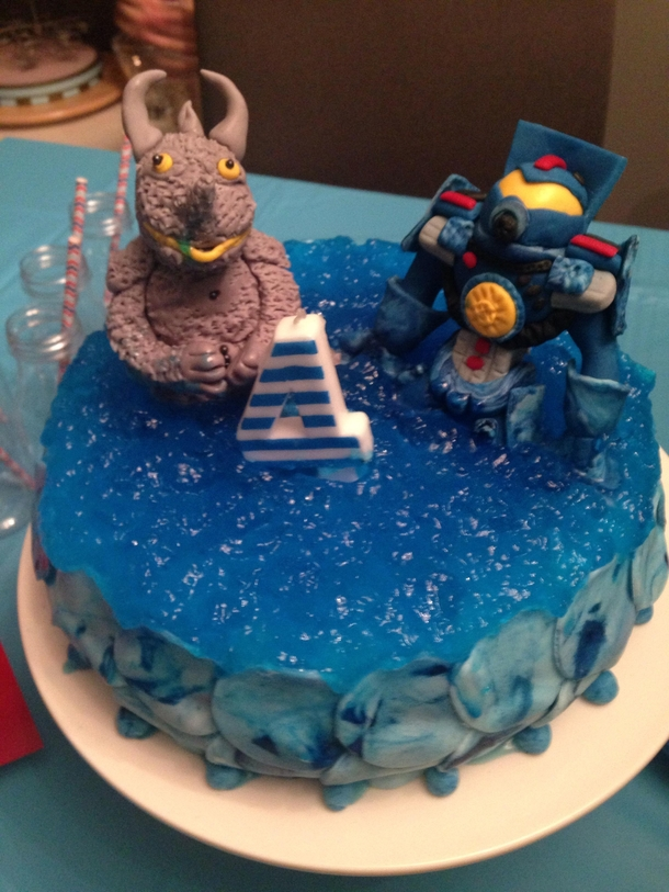 My Nephew Wanted A Pacific Rim Cake For His Th Birthday
