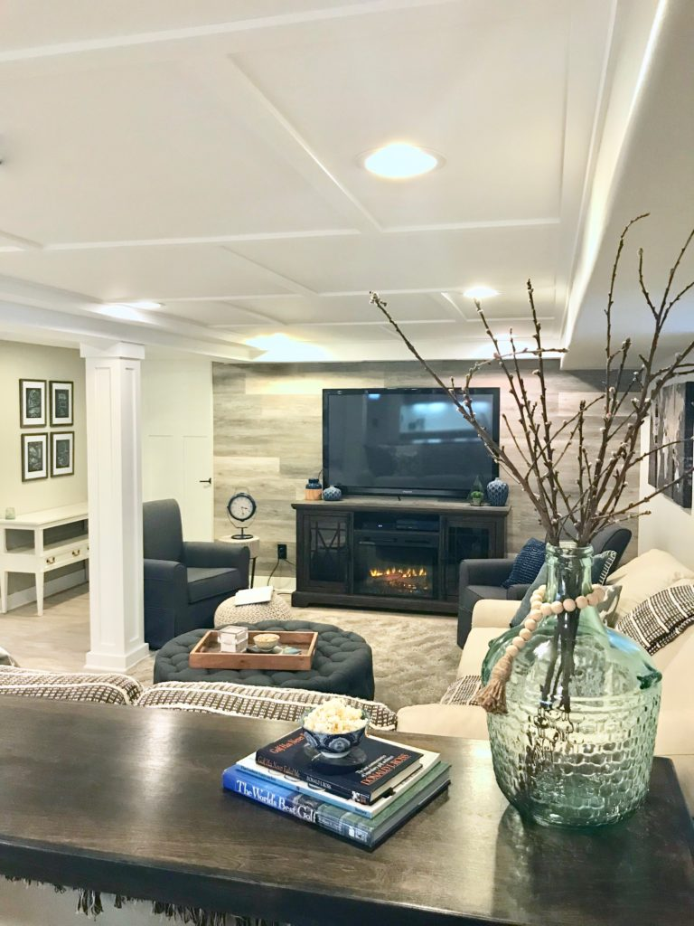Cozy Up With This Charming Farmhouse Inspired Basement Remodel Meme Hill Studio