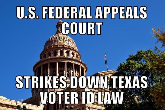 Texas Voter ID Law Struck Down | MEMENEWS