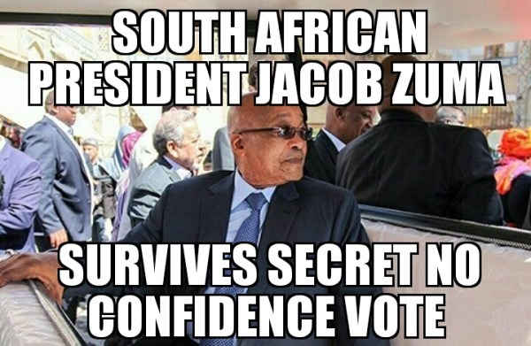 Jacob Zuma survives no confidence vote | MEMENEWS