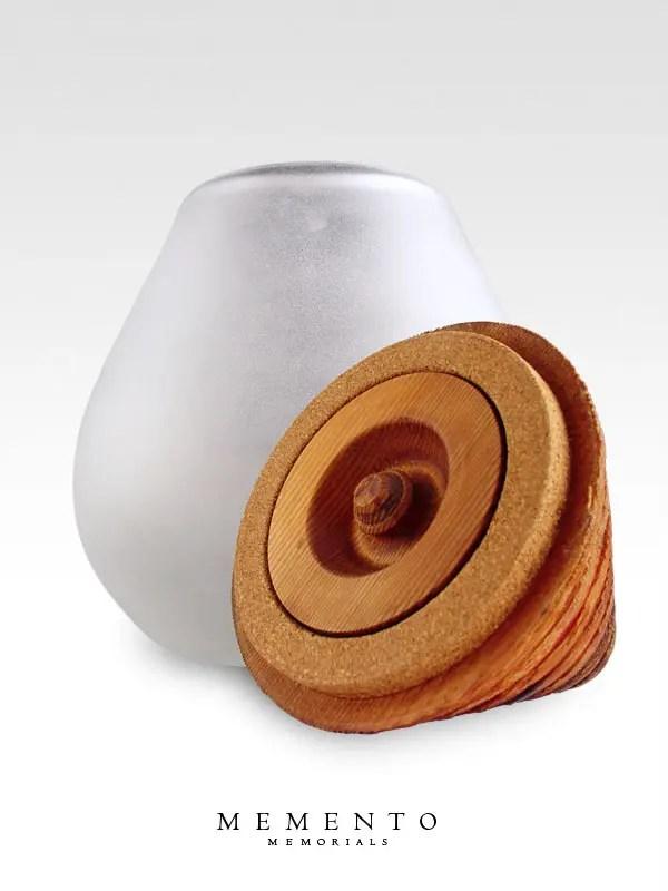 large glass urn wood secret compartment