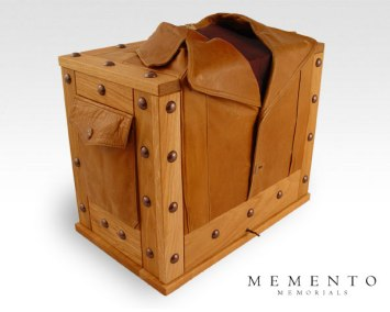 Leather Jacket Urn and Keepsake Box