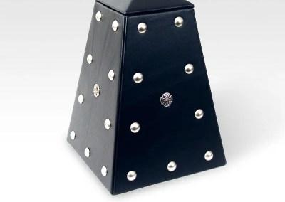 Hard Rock Obelisk Black Leather Urn