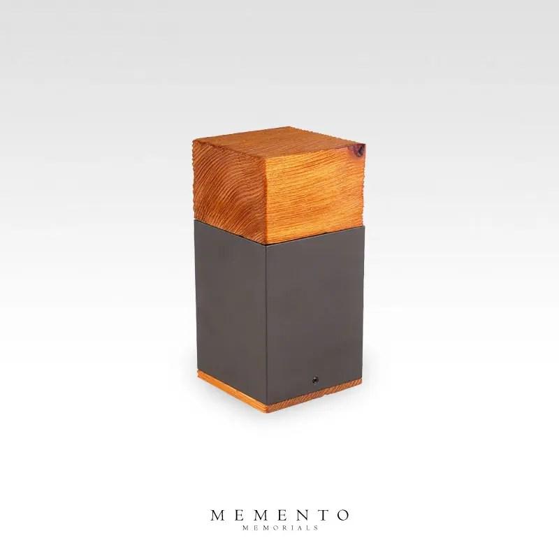 Cedar cremation keepsake urn