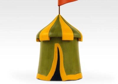 Medieval Tent Feline Urn