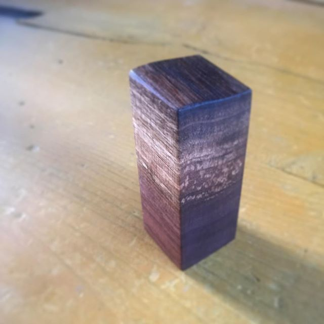 Meta Mini Live Edge Walnut Cremation Urn - avail soon in singles and grain matched groups