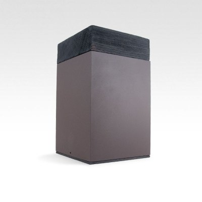 Meta Torched Oak Cremation Urn