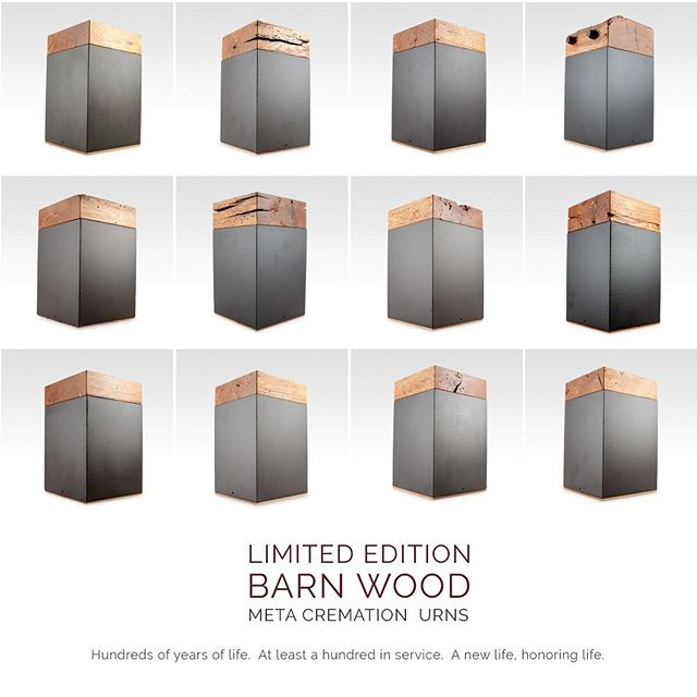 All 12 Limited Edition Barn Wood Cremation Urns
