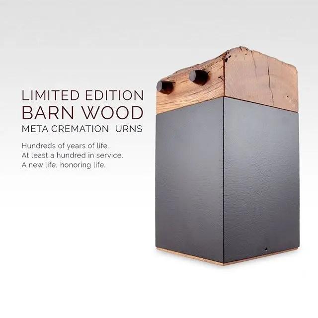 Barn Wood Meta Cremation Urns