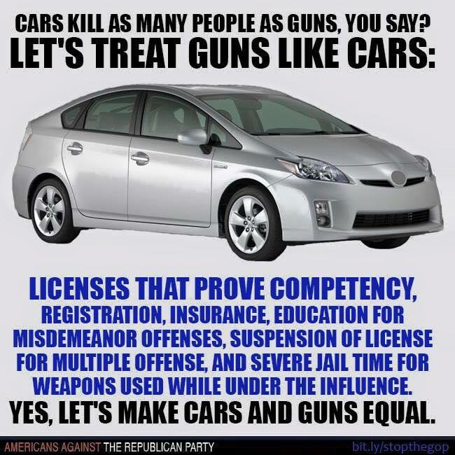guns cars meme treat say memes republican against likes courtesy policeman