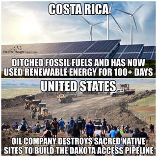 Costa Rica renewable energy meme