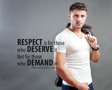Respect meme quote