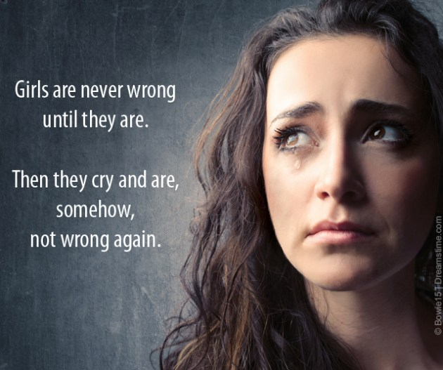 girls are never wrong meme quote