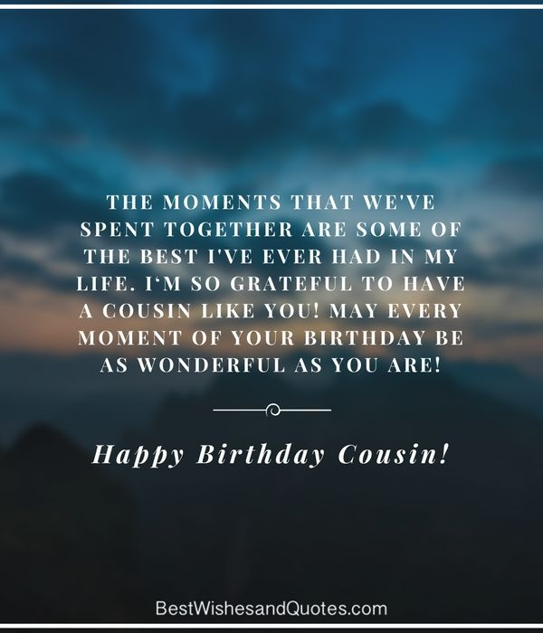 Happy Birthday Cousin Quotes Wishes And Images