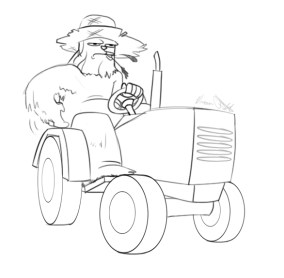 Chewbacca on tractor