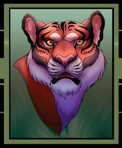 tiger-colored