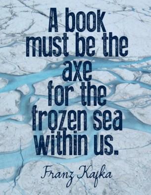 kafka, book, axe, sea
