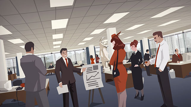 Project Highrise office illustration