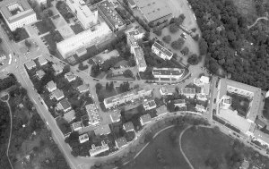 """Weissenhof Estate in Stuttgart 1927. CIAM was the promoter of Modern architecture in the """"Cubist style"""": Bauhaus, Weissenhof, De Stijl, modern projects of the Palace of Nations in Geneva. Parallel movements of the 1920s are: Expressionism, Constructivism, Art Deco, Traditionalism etc."""