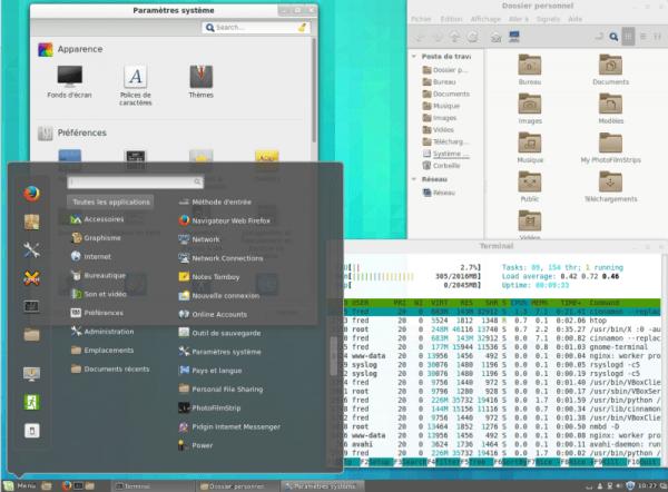 Cinnamon sous Linux Mint