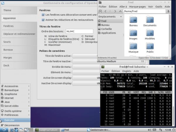 LXDE sous Lubuntu