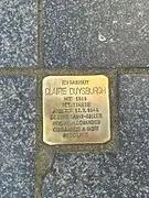 Stolpersteine, pierre d'achoppement pour une déportée française