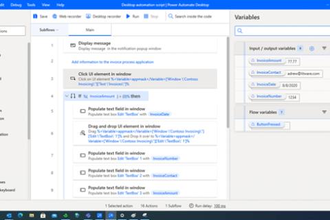 Power Automate で新しいデスクトップ用RPAソリューション「Power Automate Desktop」をリリース
