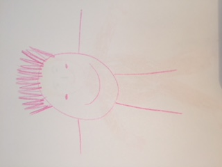This hand drawn picture of a baby is very simple