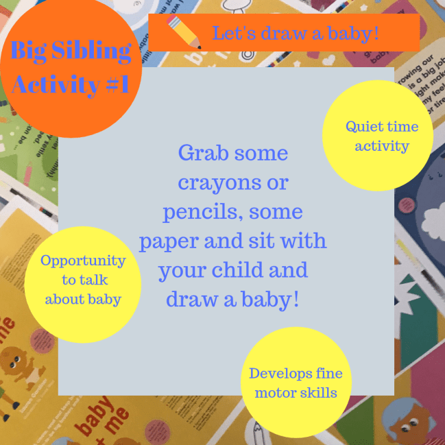 activities for big brothers and sisters - Let's draw a baby!