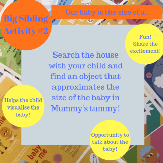 activities for big brothers and sisters - our baby is the size of a...