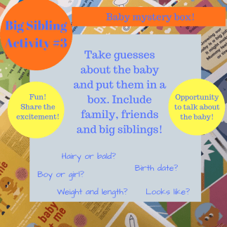 activities for big brothers and sisters - baby mystery box!