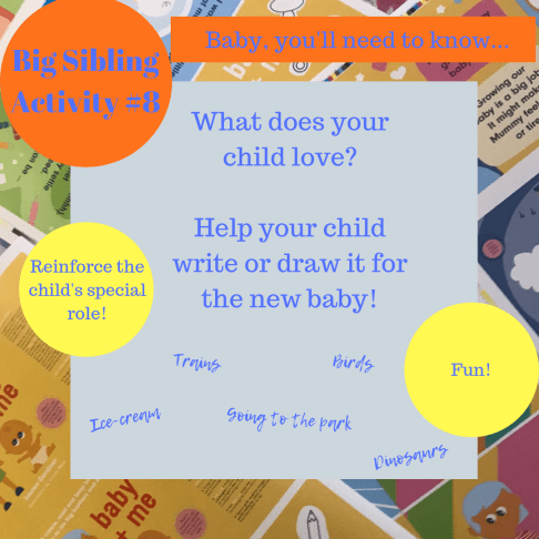 Activities for big brothers and sisters - baby, you'll need to know...