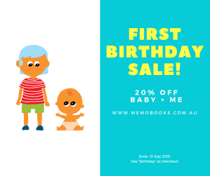 Picture showing first birthday discount offer for the rest of July